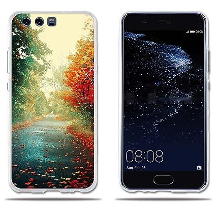 fubaoda Funda Huawei P10 Carcasa Protectora de Silicona Hermosa Estampa Otoñal,Resistente a Golpes,Resiste a los Arañazos Carcasa Completamente ...