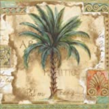 Ideal Home Range 20-Count 3-Ply Paper Cocktail Napkins, Palm Trees