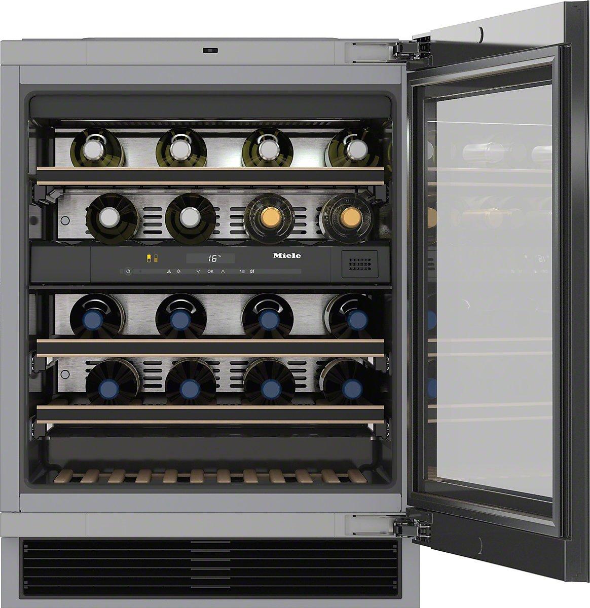 Miele KWT 6322 UG Integrado Nevera de vino Negro 34bottle(s) A ...