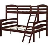 Dorel Living Brady Twin over Full Solid Wood Kid's Bunk Bed with Ladder, Espresso
