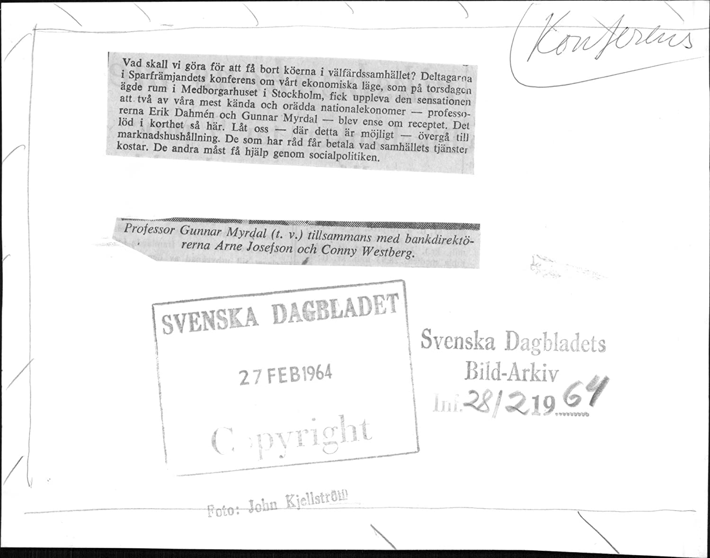 Amazon Com Vintage Photo Of Professor Gunnar Myrdal Along With  # Uppleva Dimension