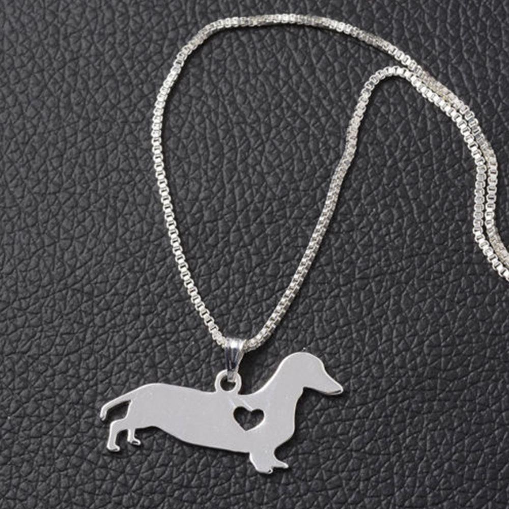 TenDollar In Accessories Shaped Popular Animal Cute Dachshund Necklace Puppy Pendant Dog By TenDollar