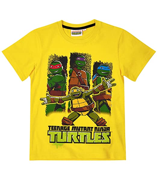 Ninja Turtles Chicos Camiseta manga corta - Amarillo: Amazon ...