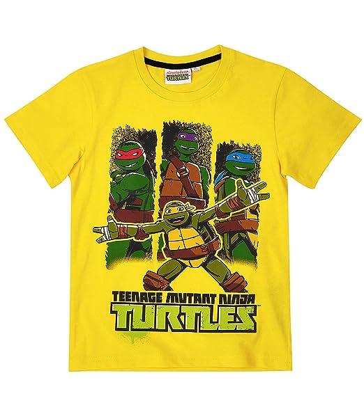 Ninja Turtles Chicos Camiseta manga corta - Amarillo: Amazon ...