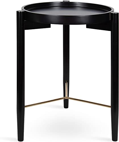 Kate and Laurel Curt Modern Round Wood Side Table
