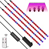 LED Growing Lamps Plant Grow Light Strips 24W 120 LEDs Growing Light Strips with Auto On/Off Timer,10 Dimmable Levels,3 Switc
