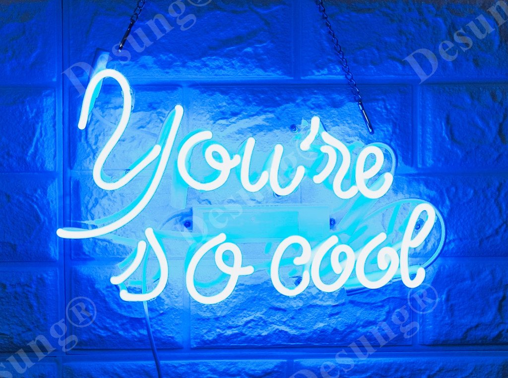 Desung Brand New 14'' You are So Cool Gift Lamp Decorated Acrylic Panel Handmade Custom Design Neon Sign Light WD45