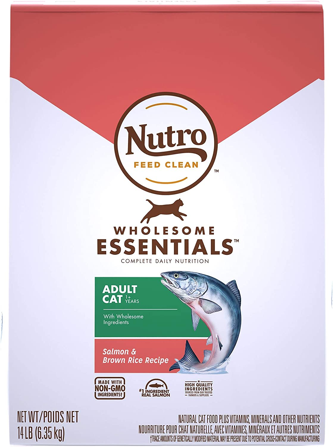 Natural Choice Wholesome Essentials Adult Cat Salmon And Whole Brown Rice Formula - 14 Lbs. (6.35 Kg)