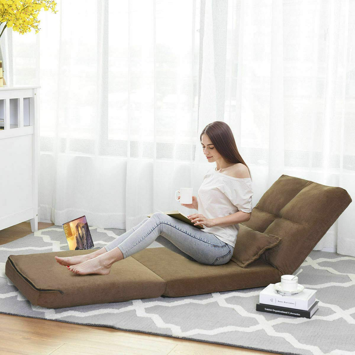 Amazon.com: Fold Down Chair Flip Out Lounger Convertible ...