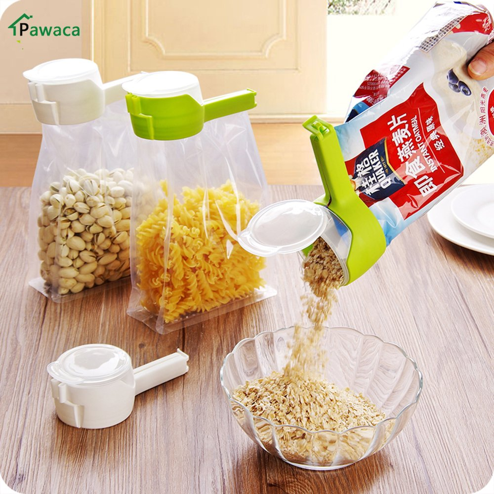 1pcs Househould Food Snack Storage Seal Sealing Pour Bag Clips Sealer Clamp Food Bag Clip Kitchen Tool