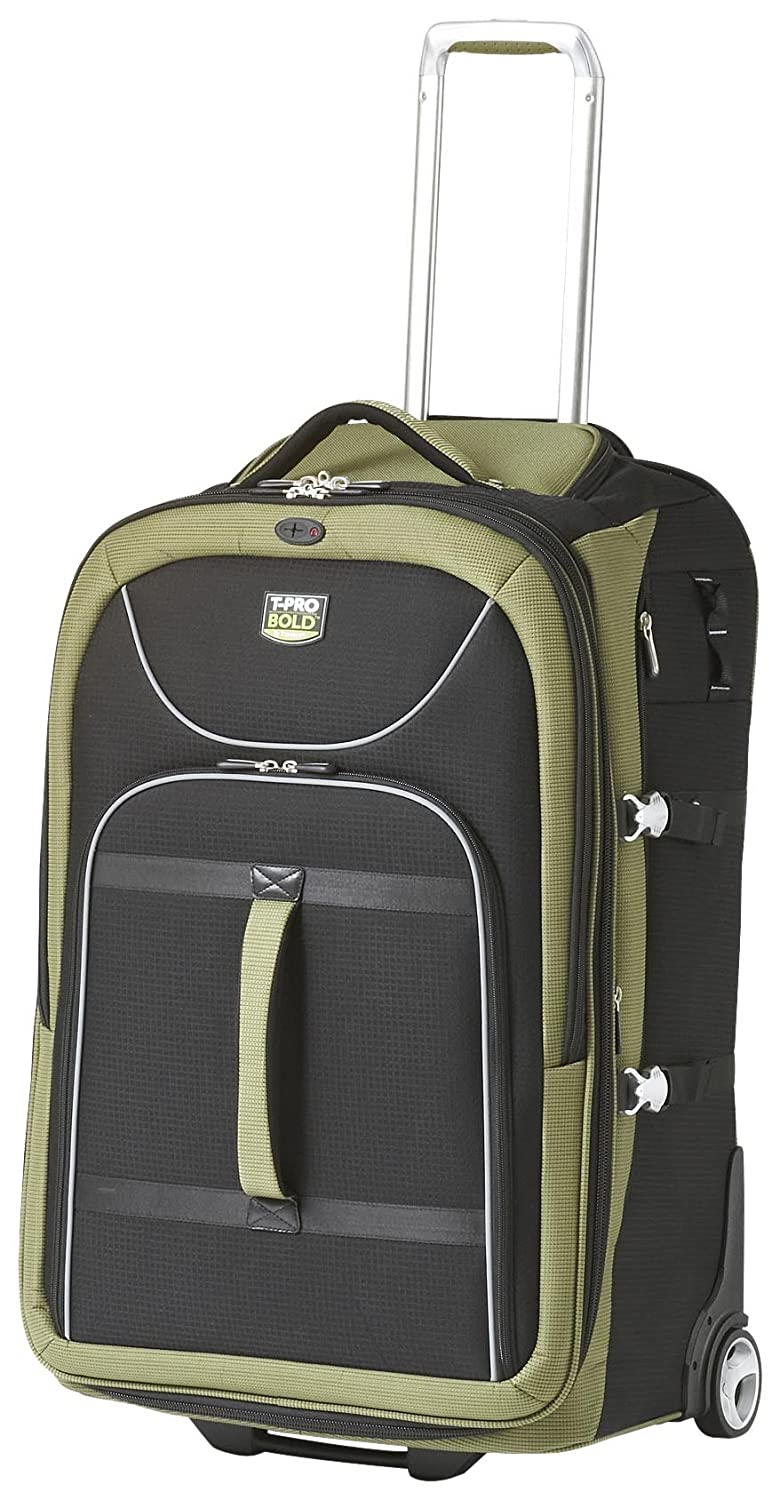8efb7bf1b Amazon.com | Travelpro Luggage T-Pro Bold 28 Inch Expandable Rollaboard  Bag, Black/Green, One Size | Suitcases