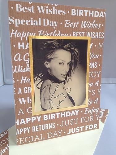 Amazon Kylie Minogue Handmade Birthday Wishes Greeting Card