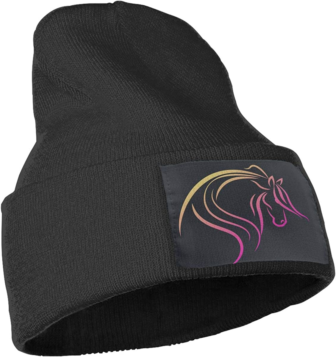 MaoXCatt Pink Horse Men Women Winter Warm Skull Cap