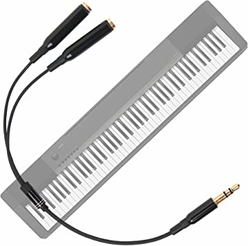 DURAGADGET Práctico Divisor De Auriculares para Teclado/Piano ...