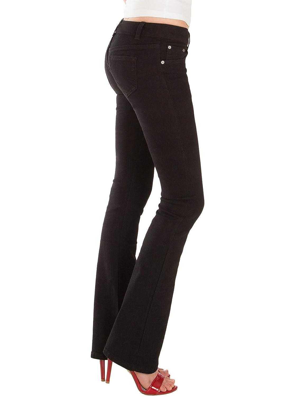 Fraternel Jeans donna bootcut stretch vita bassa