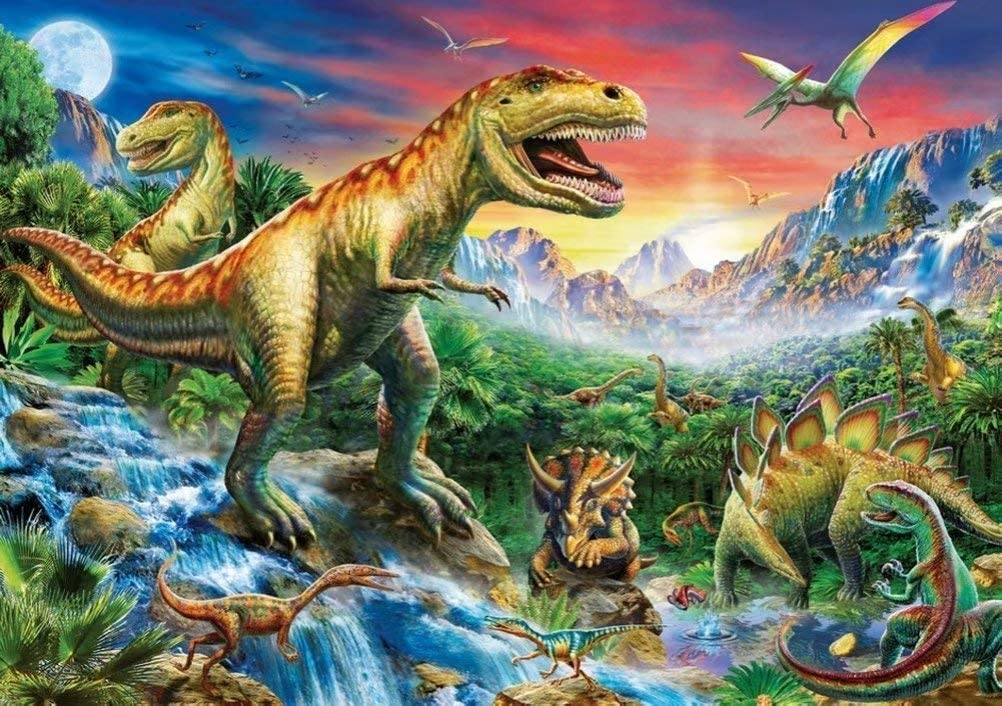 Fire Breathing Dinosaur 14X14 inches Wgniip 5D DIY Kids Paint by Number Kits Full Round Diamond Painting by Numbers Kits for Children Rhinestone Diamond Embroidery Home Wall D/écor