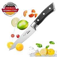 Coltello Frutta Cucina Coltello Coltello di Verdure 10 cm Forgiata Lama Acciaio Inossidabile Manico Ergonomico Antiscivolo Posate
