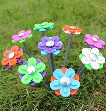 Blue Diamond Daisy Tent Pegs x 20 With Flower Heads + Storage Case u0026 Peg Cleaner & Blue Diamond Daisy Tent Pegs x 20 With Flower Heads + Storage Case ...