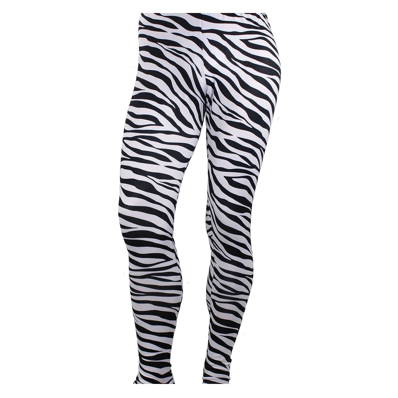 Largemouth Mens Heavy Metal Rocker Pants Zebra Black//White