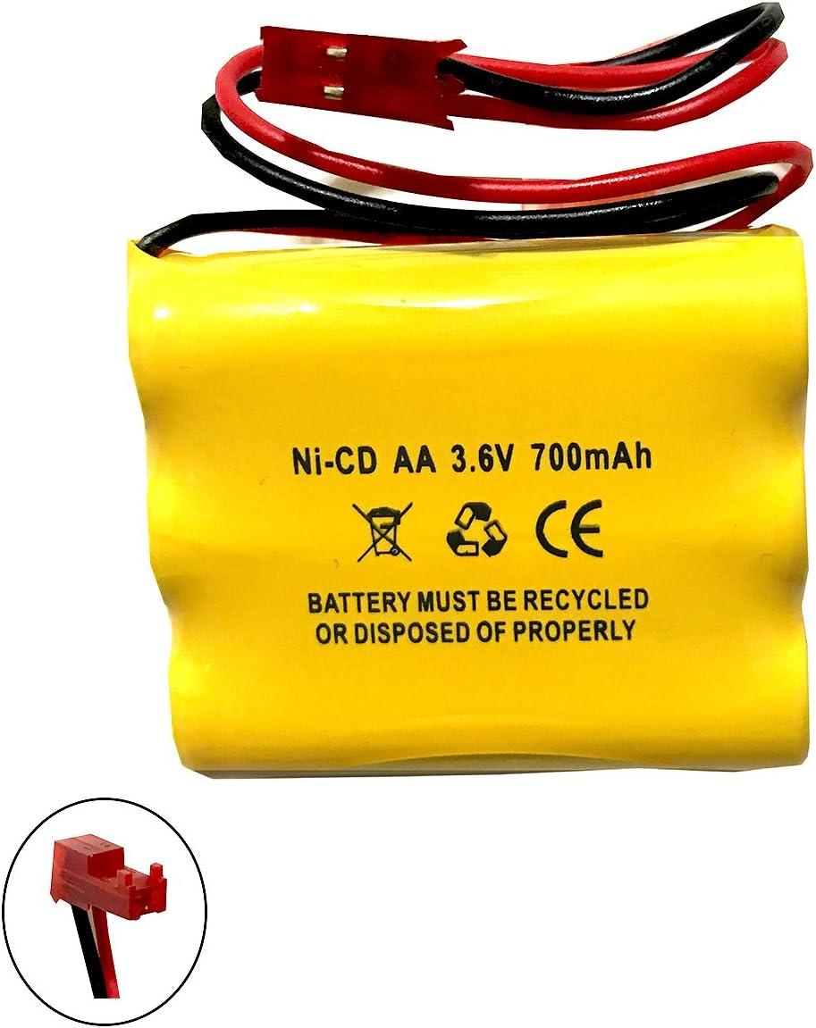 5 Pack CUSTOM-93 NNYXSB LPX70RWH 3.6V 700MAH Exit Sign Emergency Light NiCad Battery Replacement SL 026148 SL 026-148 3.6v 600mah NIC0553 ANIC0553 Custom-93