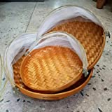 NAVA CHIANGMAI 3 pieces Natural Bamboo Woven Mesh Food Cover Prevent mosquito flies Products from Thailand & Amazon.com: 13 inch Covered Rectangular Bamboo Serving Food Tent ...