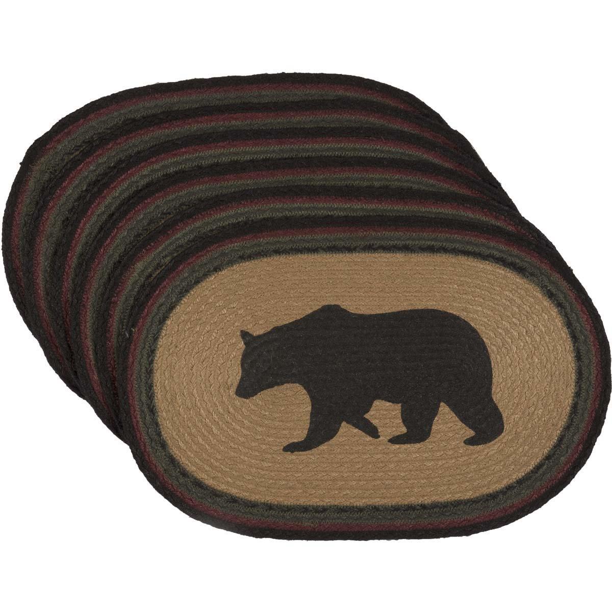 VHC Brands 素朴でロッジ テーブルトップ & キッチン ワイアット タンベア 楕円形 ジュートプレースマット 6枚セット ブラウン   B073RWBQP8