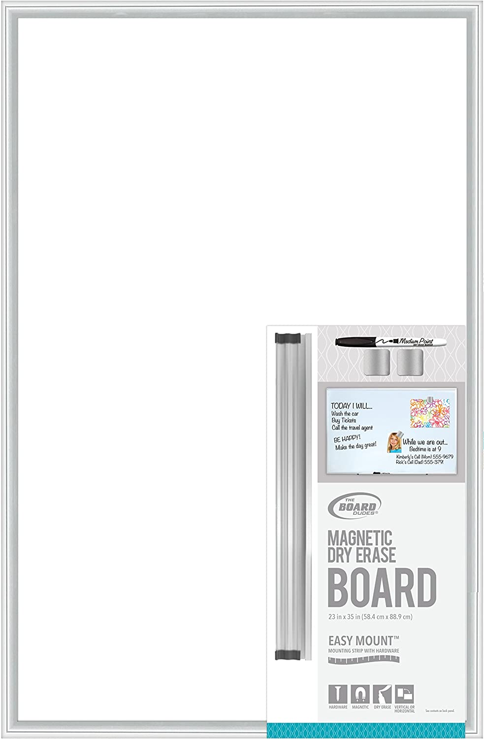Board Dudes Magnetic Dry Erase Aluminum framed board 35 x23 The Board Dudes CNT67