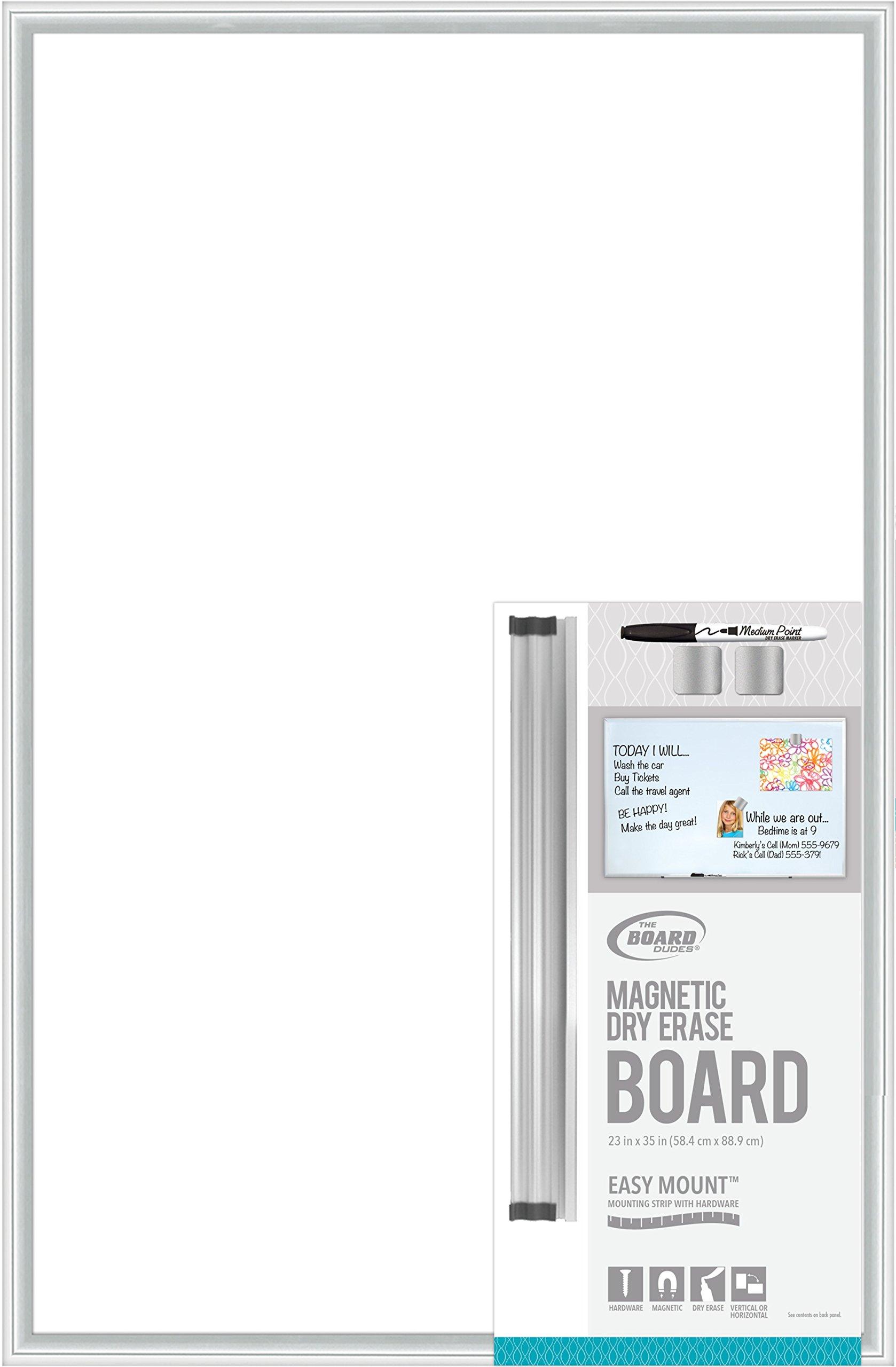 Board Dudes Magnetic Dry Erase Aluminum framed board 35 x23