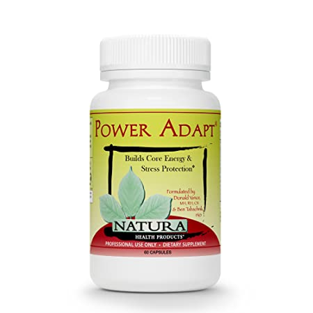Power Adapt Energy and Stress Relief Supplement by Natura Health Products – Natural Herbal Extracts to Increase Stamina, Build Strength, and Promote Stress Protection – 60 Capsules