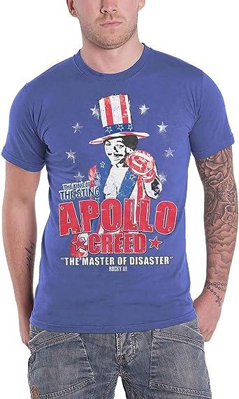 Rocky Apollo Creed Camiseta Gris Oscuro: Amazon.es: Ropa y ...