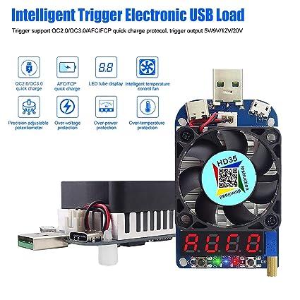 amazon com electronic load tester usb load resistor module trigger rh amazon com