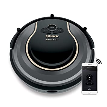 Review Shark ION Robot Vacuum WIFI-Connected, Voice Control Dual-Action Robotic Vacuum Carpet and Hard Floor Cleaner, Works with Alexa (RV750)