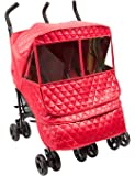 Manito Castle Alpha Twin Stroller Weather Shield (Red)