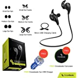Crossbeats Wireless Bluetooth Headset V4.1 Sports With Mic/Apt-X - Black