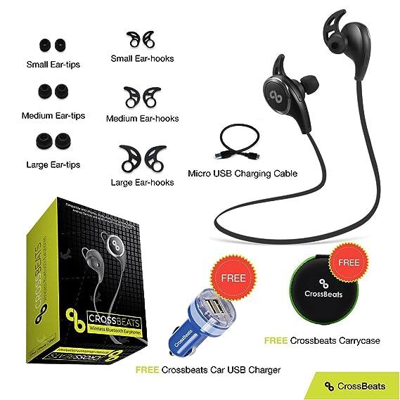 ebffbd0d948 CrossBeats V4.1 Bluetooth Headset with Mic and Apt X(Black): Amazon ...