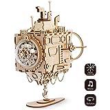 Robotime Laser Cut Puzzle Juguetes-DIY Caja de música de vehículos espaciales para niños y adultos-3D Jigsaw Model Craft Kits