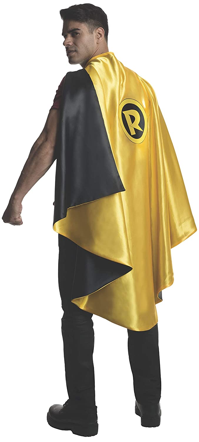 One Size Rubie's Costume Co Men's DC Superheroes Deluxe Robin Cape, Multi, One Size