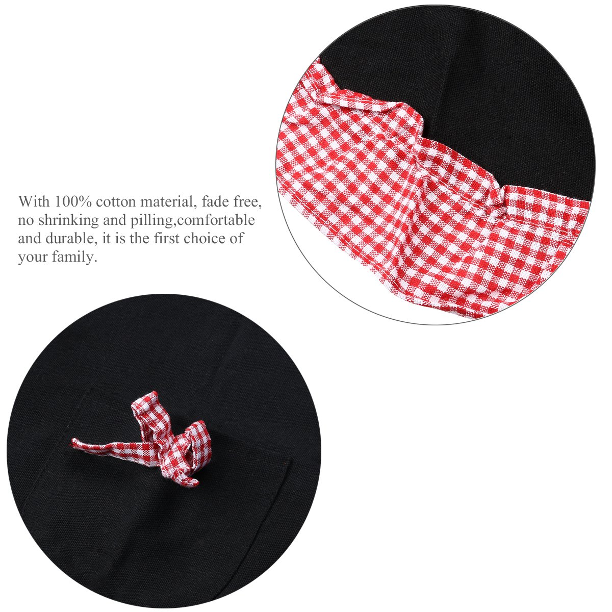 Lovely Princess Style Grid Pattern Falbala Kitchen Cooking Apron Women Ladies Apron With 2 Bowknot Pockets Electronic Components & Supplies Home Decor