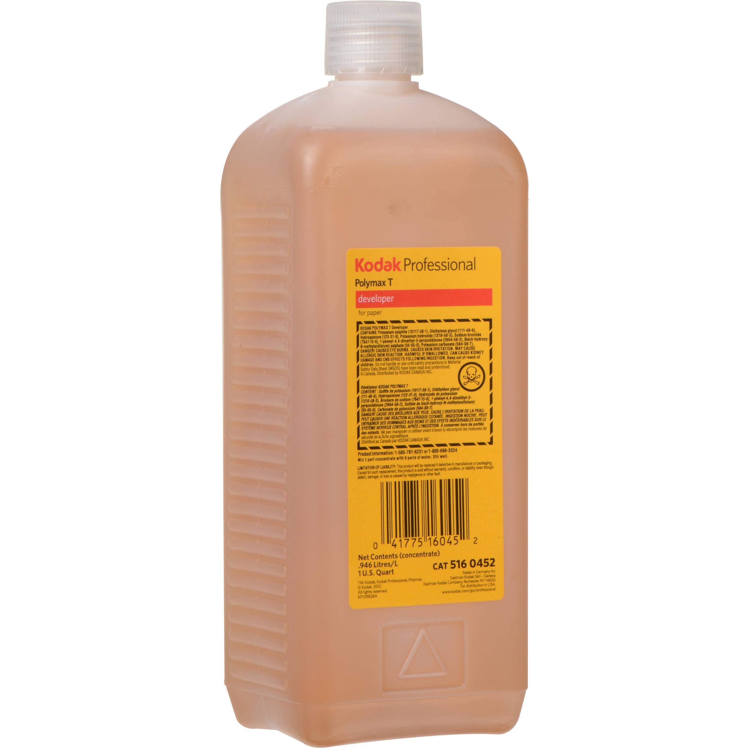 KODAK Polymax T Black & White Paper Developer, Liquid, 1 Quart Bottle. by KODAK