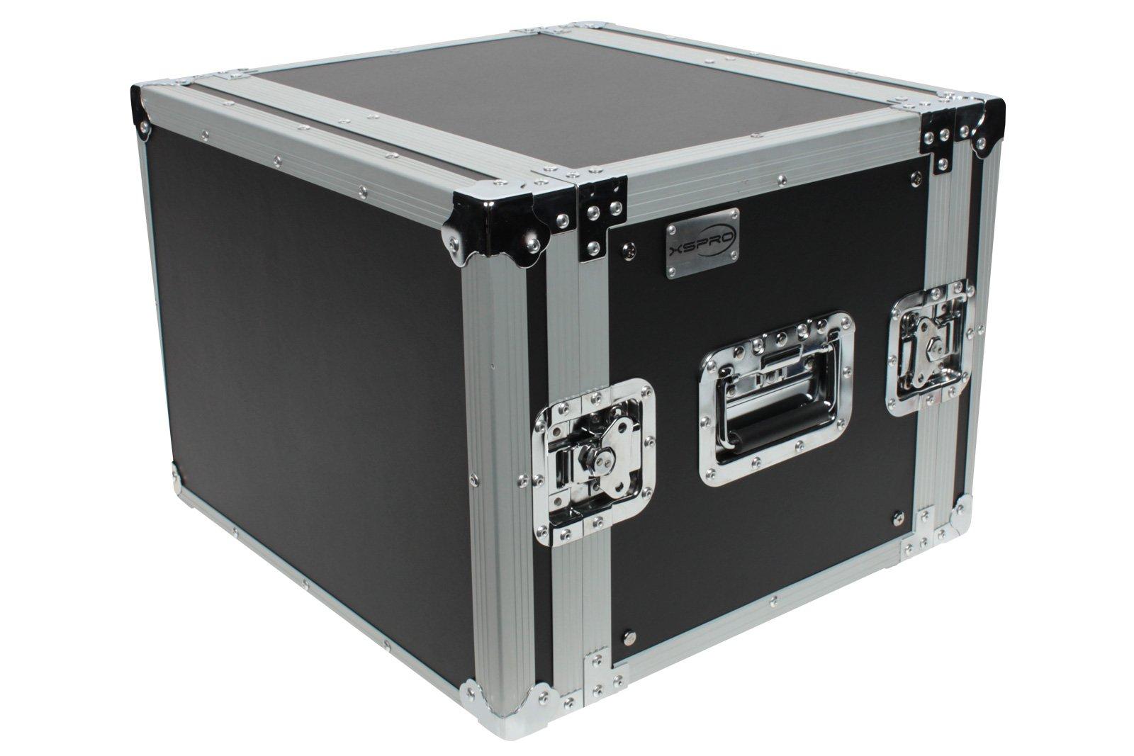 XSPRO XS8U-14 8 Space 8U ATA Effects Road Tour Flight Rack Case 19'' Wide