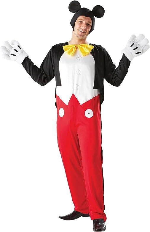 Deluxe – Disfraz de Disney Mickey Mouse (Tamaño para adultos ...