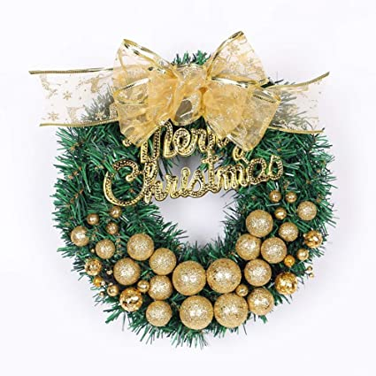 christmas wreath garland rattan decorated front door round thanksgiving hanging wreath party wall hanging ornaments - Christmas Wall Hanging Decorations