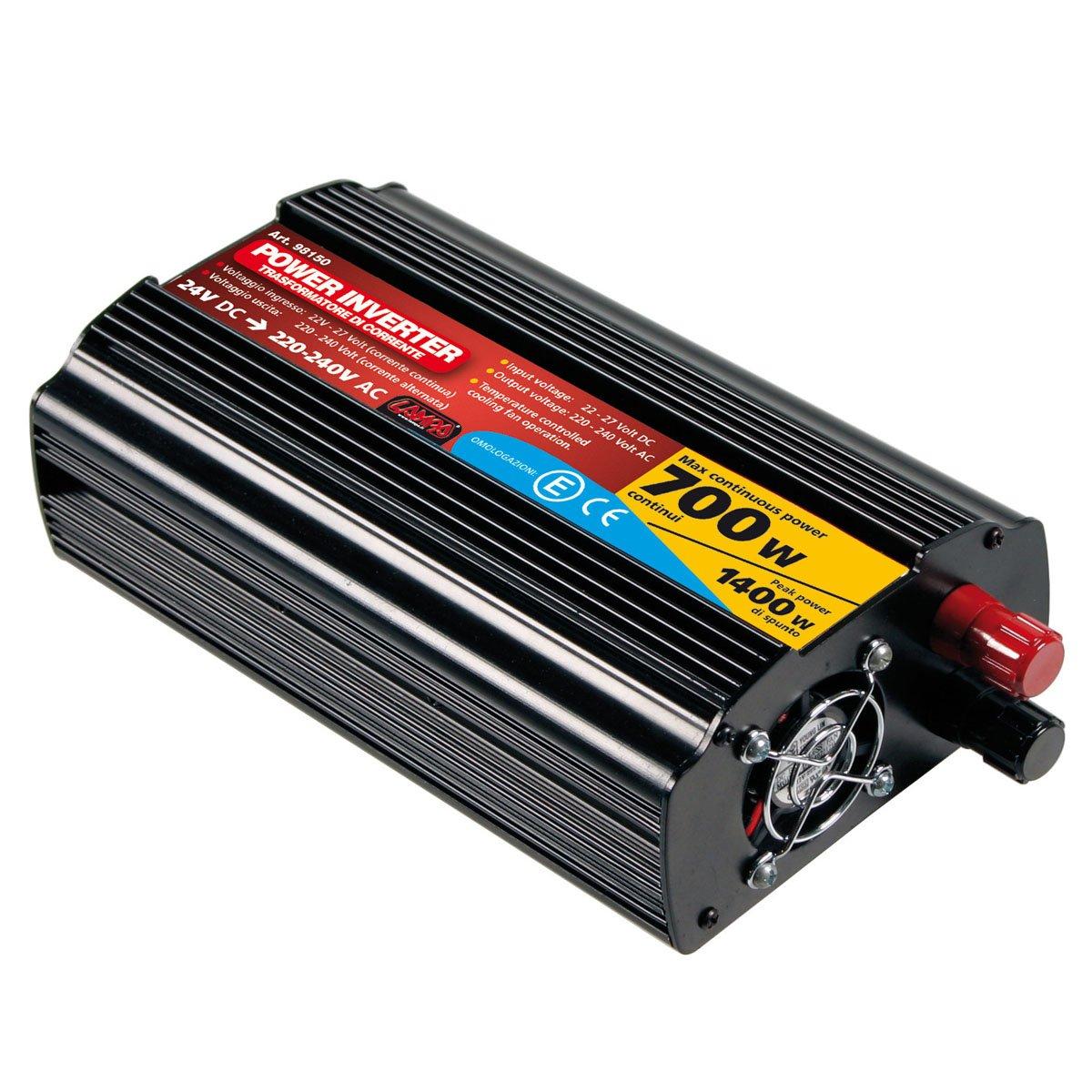 Lampa 98150 Power Inverter Convertitore di Corrente, 700 W, 24/220V LA_98150