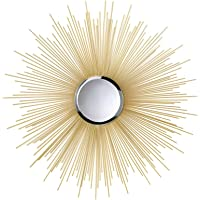 "Smart Living Company Home Décor Golden Rays Mirror, 7 7/8"" Dia"