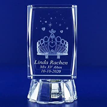 amazon com 12 pcs personalized customer laser engraving 3d crystal