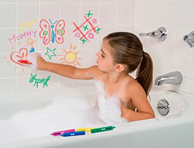 Image: ALEX Toys Rub a Dub Draw in the Tub Bath Crayons | draw colorful pictures on bathtubs, tile or your body!