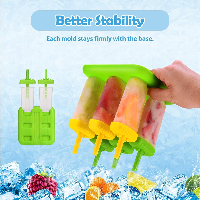 4 Teile satz DIY Silikon Eisform Popsicle Maker Rot