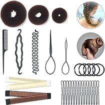 3PC Magic Sponge Hair roller Styling Bun Maker Twist Curler Tool Clip Donut SIZE