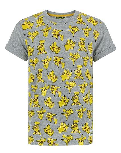c15f06db1 Amazon.com: Pokemon Pikachu Boy's T-Shirt: Clothing