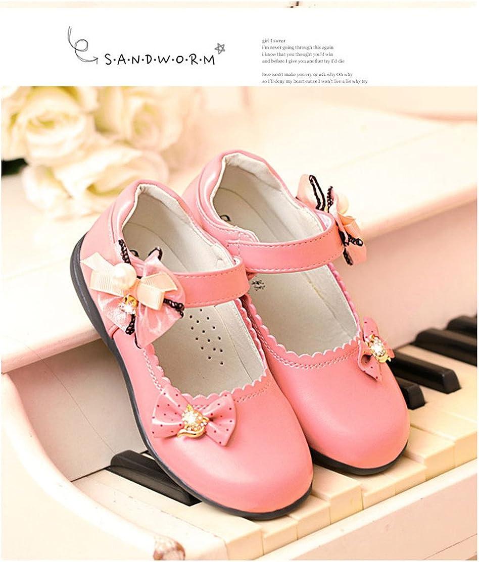 Gaorui Fashion Kid Girl Child Bow Flower Dress Shoe Princess Mary Jane Dance Ballet Party Flat